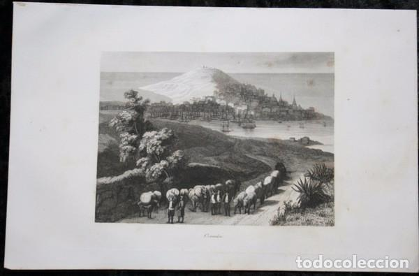 Arte: CORUÑA - GRABADO ORIGINAL DE 1854 - 240x156mm - Foto 2 - 86119688