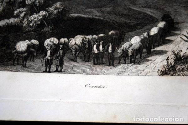 Arte: CORUÑA - GRABADO ORIGINAL DE 1854 - 240x156mm - Foto 3 - 86119688