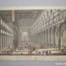 Arte: VISTA INTERIOR DE LA IGLESIA DE SAN PABLO EN ROMA, 1770. WILKINSON /BORLES/ PIRANESI. Lote 86169756