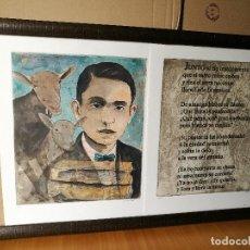 Arte: GRABADO AGUAFUERTE DOBLE FIRMADO DURÁ HOMENAJE A MIGUEL HERNANDEZ ..PRUEBA DE AUTOR. Lote 86269664