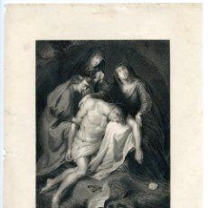 Arte: GRABADO ORIGINAL SIGLO XIX. EL DESCENDIMIENTO.. Lote 86297100
