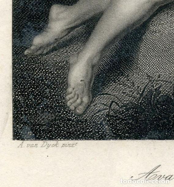 Arte: GRABADO ORIGINAL SIGLO XIX. EL DESCENDIMIENTO. - Foto 4 - 86297100