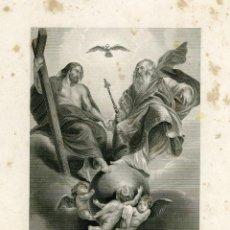 Arte: GRABADO ORIGINAL SIGLO XIX. SANTÍSIMA TRINIDAD. Lote 86300380