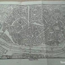 Arte: GRABADO PLANO MAPA DE VALENCIA SIGLO XVIII ANTONIO PONZ Y CRISTOBAL JACINTO BELDA PADRE TOSCA. Lote 86370996