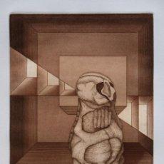 Arte: MANUEL AYLLÓN. COMPOSICIÓN. GRABADO ORIGINAL. Lote 95788704