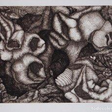Arte: MANUEL AYLLÓN. COMPOSICIÓN. GRABADO ORIGINAL. Lote 86744772