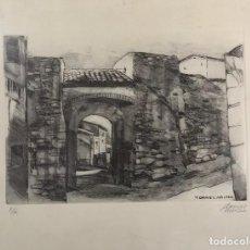 Arte: VISTA DE TORRELAGUNA, GRABADO P/A DE DANIEL MERINO (1941/2011). Lote 86753228