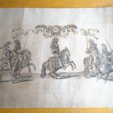 Arte: LOUIS XIV REX ROMANORUM IMPERATOR. LE GRAND CARROUSEL 1662. AGUAFUERTE,CHALCOGRAPHIE DU LOUVRE C1850. Lote 86819528