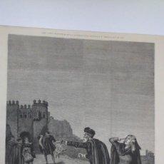Arte: GRABADO EL RAPTO. CERVANTES: LA FUERZA DE LA SANGRE. ILUSTRACIÓN ESPAÑOLA Y AMERICANA 1878. Lote 87000348