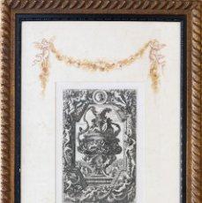 Arte: GRABADO ANTIGUO ORIGINAL DE PIERRE MARIETTE DEL SIGLO XVIII- Nº 4. Lote 87060244