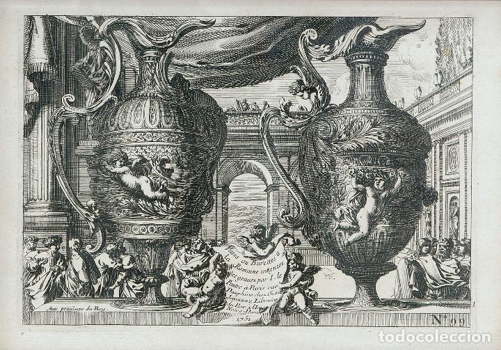 Arte: GRABADO ANTIGUO ORIGINAL DE LE BRUINE DEL SIGLO XVIII DE 1752- Nº 1 DE 99 - Foto 2 - 87060424