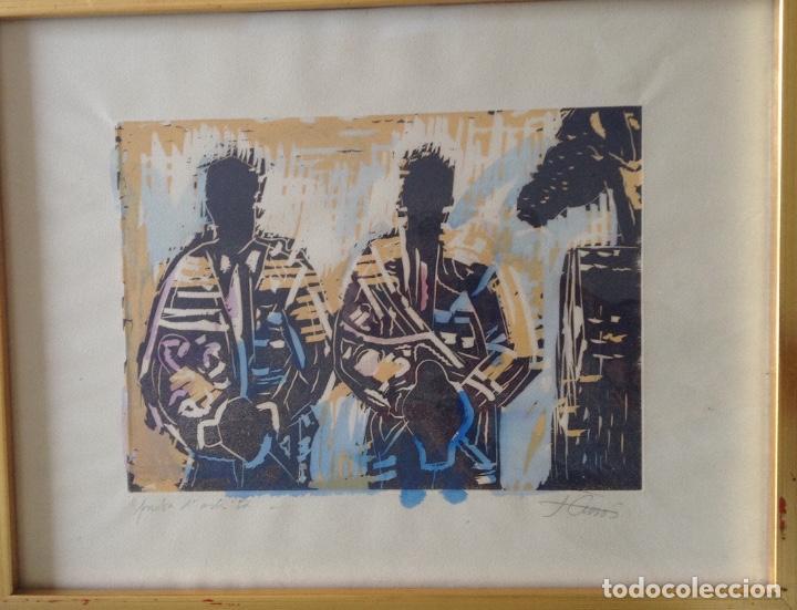 Arte: JORDI CUROS GRABADO 48.x 37 cms COLORIDO A MANO - Foto 2 - 87076432
