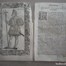 Arte: XILOGRAFÍA DE UN SOLDADO DEL EMPERADOR CARLOS I DE ESPAÑA, 1590. VECELLIO. Lote 87189836