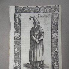Arte: XILOGRAFÍA DE MUJER DE VIZCAYA (ESPAÑA), 1590. VECELLIO. Lote 87190148