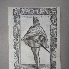 Arte: XILOGRAFÍA DE UN NOBLE ESPAÑOL, 1590. VECELLIO. Lote 87190492