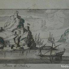 Arte: VISTA DEL PEÑÓN DE VELEZ DE LA GOMERA (ESPAÑA, NORTE DE ÁFRICA) 1690. PEETERS. Lote 87190596