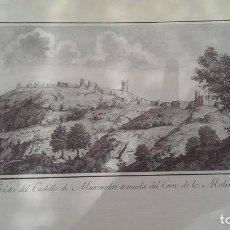 Arte: PRECIOSO GRABADO CAVANILLES AÑOS 1795-1797 VISTA CASTILLO MURVIEDRO SAGUNTO. Lote 254529935