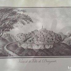 Arte: PRECIOSO GRABADO CAVANILLES AÑOS 1795-1797 VILLA DE BOCAYRENTE BOCAIRENTE. Lote 254530985