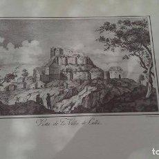 Arte: PRECIOSO GRABADO CAVANILLES AÑOS 1795-1797 VILLA DE CULLA. Lote 254531910