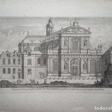 Arte: VISTA DE LA IGLESIA DE SANTA ISABEL EN PARÍS (FRANCIA), 1630. VAN MERLEN. Lote 87233452