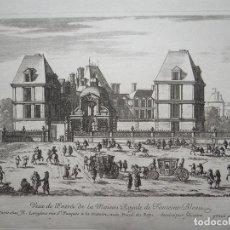 Arte: VISTA DEL PALACIO DE FONTAINEBLEAU (FRANCIA), 1660. PÉRELLE/LANGLOIS. Lote 87233952