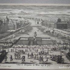 Arte: VISTA DEL PUENTE NUEVO DE PARÍS (FRANCIA), 1630. P. AVELINE. Lote 87236052