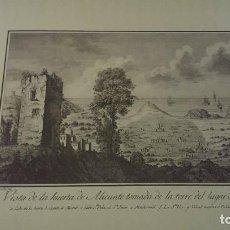 Arte: PRECIOSO GRABADO CAVANILLES AÑOS 1795-1797 HUERTA DE ALICANTE DESDE AIGUES , SANTA POLA,. Lote 93167545
