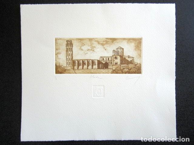 Arte: ANTIGUO GRABADO DE LÉRIDA - LLEIDA. FIRMADO Y NUMERADO. 27 x 24 cm. - Foto 2 - 87494860