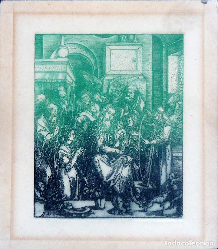 GALICIA.LUGO.GRABADO CASTRO GIL(15,5X12,5CM.) SOBRE PAPEL (21X18,5) DE LA SERIE 'HOMENAJE A DURERO' (Arte - Grabados - Contemporáneos siglo XX)