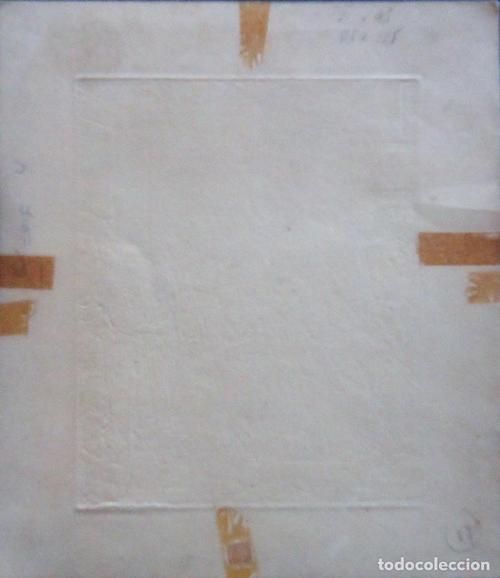 Arte: GALICIA.LUGO.GRABADO CASTRO GIL(15,5X12,5CM.) SOBRE PAPEL (21X18,5) DE LA SERIE HOMENAJE A DURERO - Foto 3 - 87496544