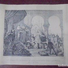 Arte: GRABADO. RITORNO DI COLOMBO DALLA SCOPERTA DELL` AMERICA. 34,3X49 CM.. Lote 172684778