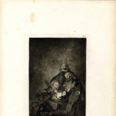 Arte: GOYA. AGUAFUERTE ORIGINAL NÚM 21 DE LOS CAPRICHOS. QUINTA EDICIÓN. Lote 87688380