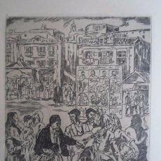 Arte: JOSÉ GUTIÉRREZ SOLANA (1886-1945) AGUAFUERTE 1963: EL CIEGO 28X22 CMS PAPEL 50X65CMS, FIRMA PLANCHA . Lote 87743972