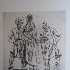 Arte: JOSÉ GUTIÉRREZ SOLANA (1886-1945) MASCARAS COCINERAS AGUAFUERTE 1963 DE 25X24 PAPEL 50X65 FIRMAPLANC. Lote 88814724