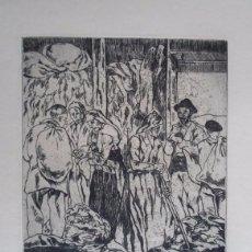 Arte: JOSÉ GUTIÉRREZ SOLANA (1886-1945) LOS TRAPEROS AGUAFUERTE 1963 DE 25X21 PAPEL 50X65 FIRMAPLANC. Lote 88821356