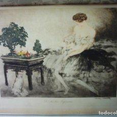 Arte: LOUIS ICART (1888-1950). LE JARDIN JAPONAIS. AGUAFUERTE EN COLOR. FIRMADO. PARÍS, 1932.. Lote 73206147