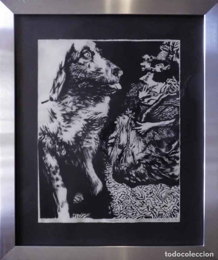 MANUEL ALCORLO (Arte - Grabados - Contemporáneos siglo XX)