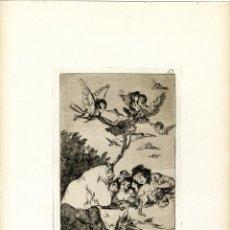 Arte: GOYA. AGUAFUERTE ORIGINAL NÚM 19 DE LOS CAPRICHOS. QUINTA EDICIÓN. Lote 89018800