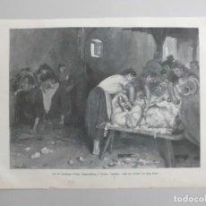 Arte: MUJERES TRASQUILANDO OVEJAS Y RETRATO, 1904. Lote 89279596
