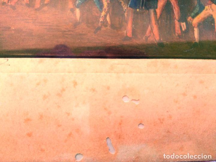 Arte: AGUAFUERTE COLOREADO A MANO - Ca 1800 - CON MARCO DE EPOCA - LE CARNAVAL DE ROMA - CORSA DE CAVALLI - Foto 14 - 89312100