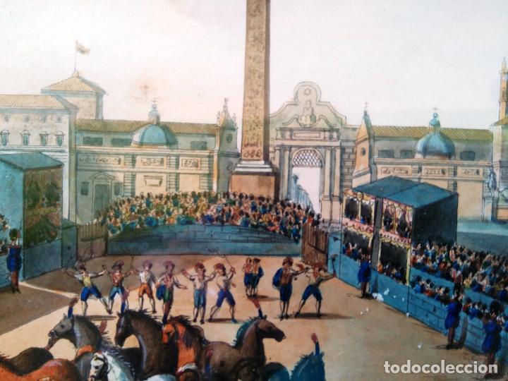 Arte: AGUAFUERTE COLOREADO A MANO - Ca 1800 - CON MARCO DE EPOCA - LA MOSSA - PRESSO D. MUCCI - Foto 5 - 89312516