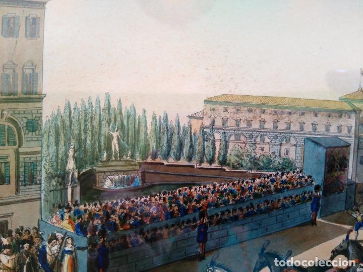 Arte: AGUAFUERTE COLOREADO A MANO - Ca 1800 - CON MARCO DE EPOCA - LA MOSSA - PRESSO D. MUCCI - Foto 6 - 89312516