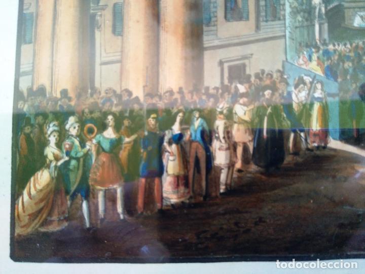 Arte: AGUAFUERTE COLOREADO A MANO - Ca 1800 - CON MARCO DE EPOCA - LA MOSSA - PRESSO D. MUCCI - Foto 8 - 89312516