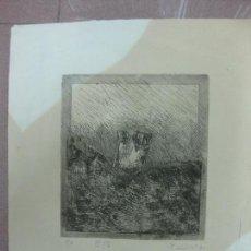 Arte: GRABADO DE DIEGO GUIRAO III/V. CON DEDICATORIA DIEGO GUIRAO 1987.. Lote 89563236