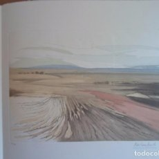 Arte: CIRILO MARTÍNEZ NOVILLO (MADRID 1921-2008) PAISAJE CASTELLANO GRABADO 44X32 PAPEL 60X50C FIRMA Y Nº. Lote 89599324