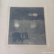 Arte: MAUREEN LUCIA BOOTH . GRANADA . GRABADO AGUAFUERTE . FIRMADO Y FECHADO . HOY 50 €. Lote 89626812