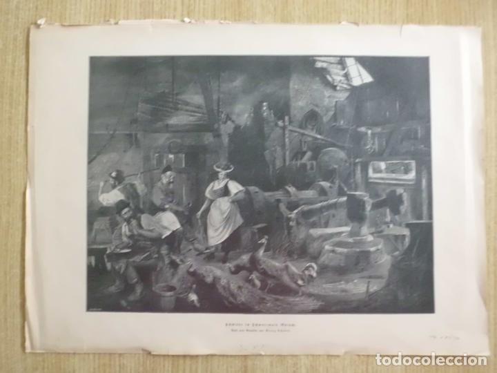 MUJER VISITANDO UNA HERRERÍA, CIRCA 1890 (Arte - Grabados - Modernos siglo XIX)
