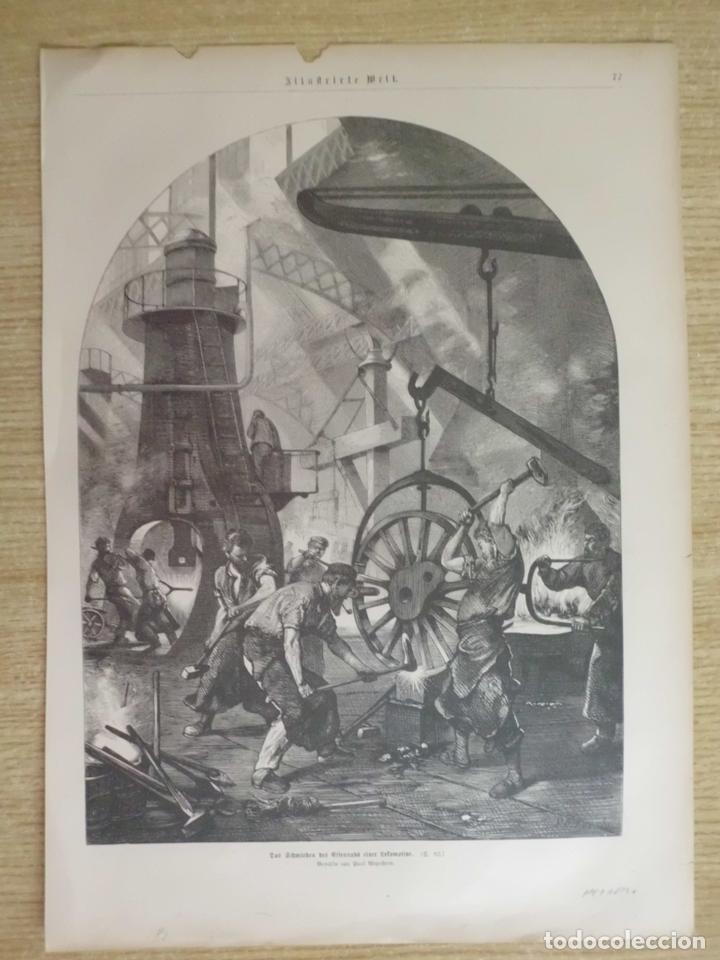 EL TALLER DEL HERRERO, 1881 (Arte - Grabados - Modernos siglo XIX)