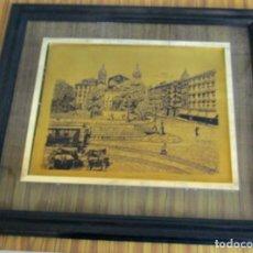 Arte: GRABADO SOBRE LATÓN --- ARENAL DE BILBAO – IGLESIA SAN NICOLAS. Lote 89865900