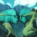 Arte: ALEGORÍA DE LA COSTA BRAVA. ÓLEO SOBRE TELA. JOAQUIN TERRUELLA MATILLA. ESPAÑA. 1923. Lote 85502028